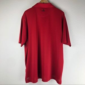 adidas Shirts - Adidas Climalite Red Polo Shirt Size XL